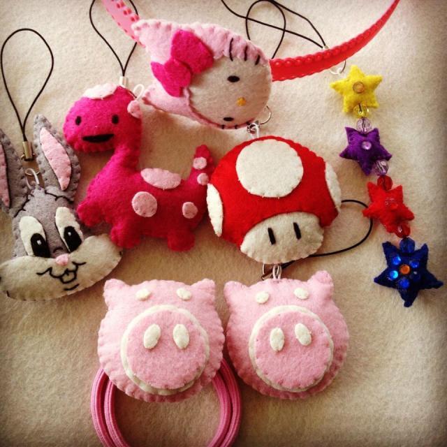 Handmade felt creations