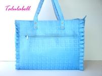 Aqua Blue Ruffle Tote Bag Php. 480.00