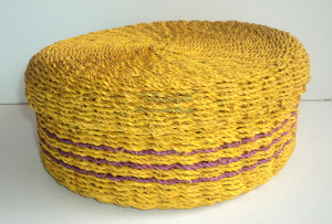 Abaca Round Container